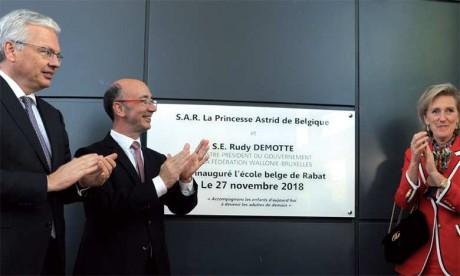 Inauguration officielle de l'École belge de Rabat  par la Princesse Astrid de Belgique