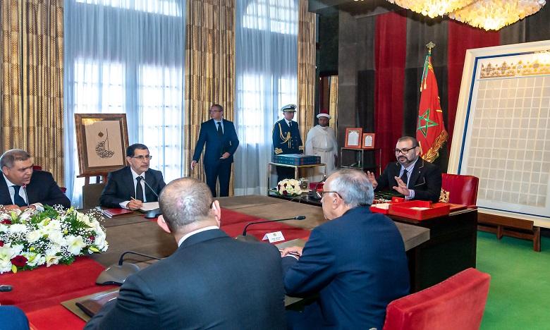 Sa Majesté le Roi préside une séance de travail consacrée au suivi de la question de la qualification et de la modernisation du secteur de la formation professionnelle