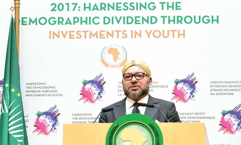 """S.M. le Roi : """"La décision du Maroc de réintégrer l'Union Africaine a été motivée par l'adhésion à la dynamique de développement à l'œuvre dans le Continent"""""""