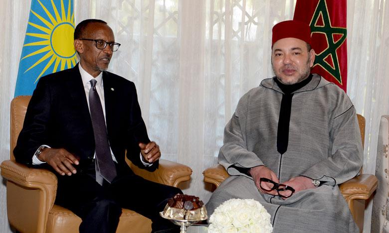 S.M. le Roi s'entretient au téléphone avec le président rwandais, Président en exercice de l'UA