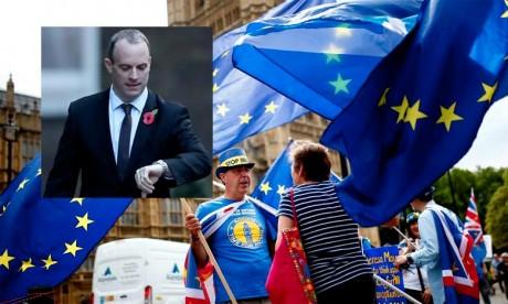 «La fin des négociations est maintenant en vue, nous pouvons nous frayer un chemin à travers les obstacles qui subsistent», a souligné Dominic Raab, ministre britannique chargé du Brexit.. Ph : AFP