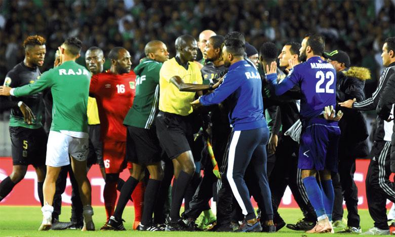 Le large succès du Raja sur l'AS Vita Club a été terni par le carton rouge de Mohcine Yajour après le coup de sifflet final