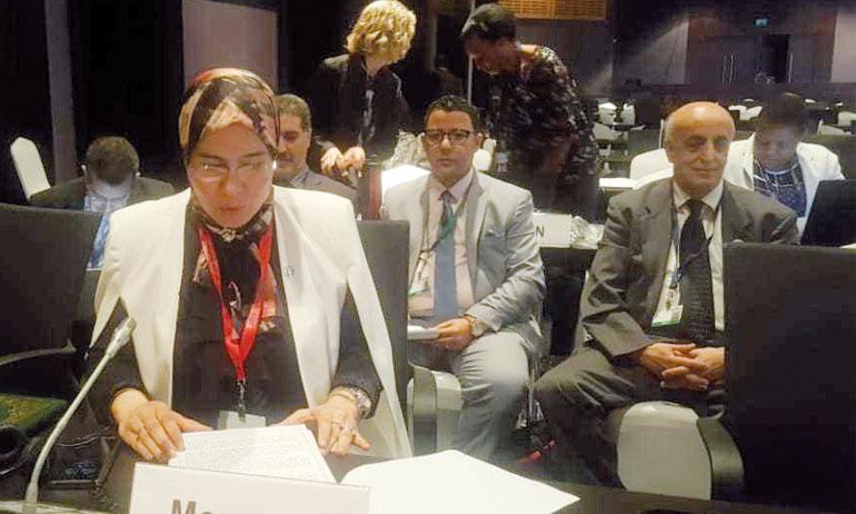 Nezha El Ouafi a rappelé l'initiative «Triple A» visant à adapter l'agriculture africaine au changement climatique et l'initiative «Triple S» pour la soutenabilité, la stabilité et la sécurité alimentaire face à la migration causée par la dégradation des terres. Ces deux initiatives ont été lancées lors de la COP 22 à Marrakech.
