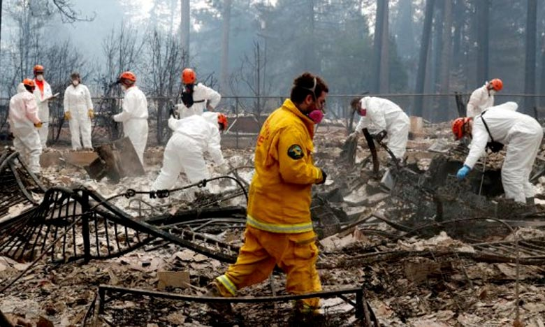 74 morts et 1.011 disparus en Californie