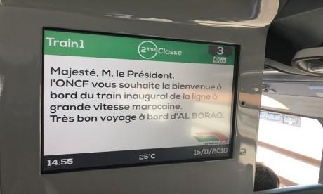 Les premières photos au cœur du TGV