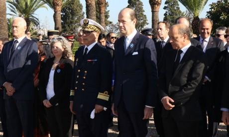 Commémoration du centenaire de l'Armistice au cimetière militaire de Ben M'Sick à Casablanca