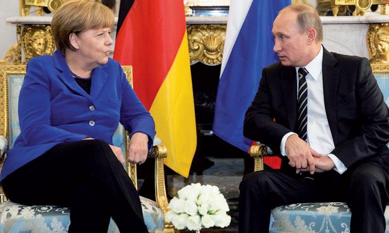 Vladimir Poutine a demandé à Angela Merkel de faire pression sur l'allié des Occidentaux.                                                                                                              Ph. Reuters