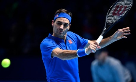 Pour être certain de se qualifier pour les demi-finales du Masters, Roger Federer avait besoin de prendre un set à Kevin Anderson, jeudi à Londres. Ph : AFP
