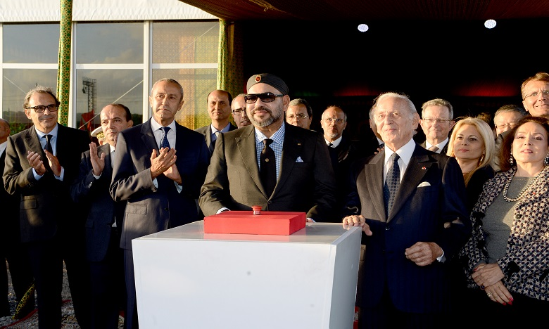 S.M. le Roi préside la cérémonie de lancement officiel des travaux de construction de la «Tour Mohammed VI», symbole de l'essor économique de la vallée de Bouregreg