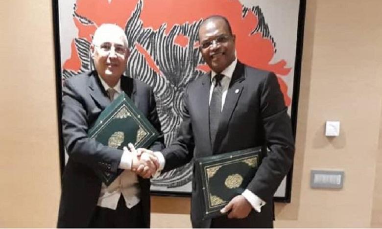 Le protocole a été signé entre les présidents des deux institutions :  Mohamed El Kettani et Fortunato-OFA Mbo Nchama