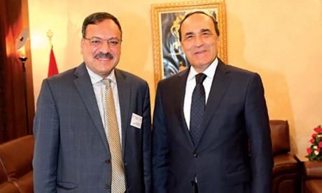 Habib El Malki s'entretient avec le secrétaire général  du Conseil de la Choura  de l'UMA