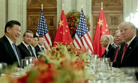 Donald Trump a accepté de maintenir à 10% le taux du droit de douane sur quelque 200 milliards de dollars de produits importés chinois et de ne pas le porter à 25% au 1er janvier 2019.   Ph : AFP
