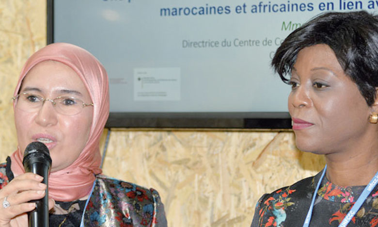 Nezha El Ouafi et Arlette Soudan-Nonault, ministre du Tourisme et de l'environnement de la République du Congo, avaient indiqué à Katowice que le Maroc a participé à l'opérationnalisation du Fonds bleu du bassin du Congo. Ph. DR