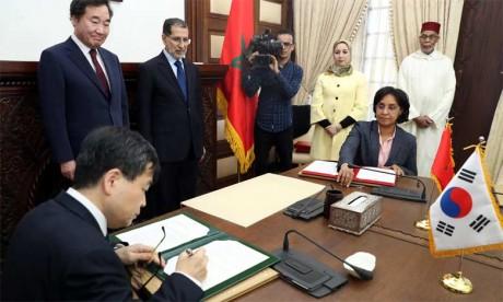 Le Maroc et la Corée du Sud signent six accords de partenariat