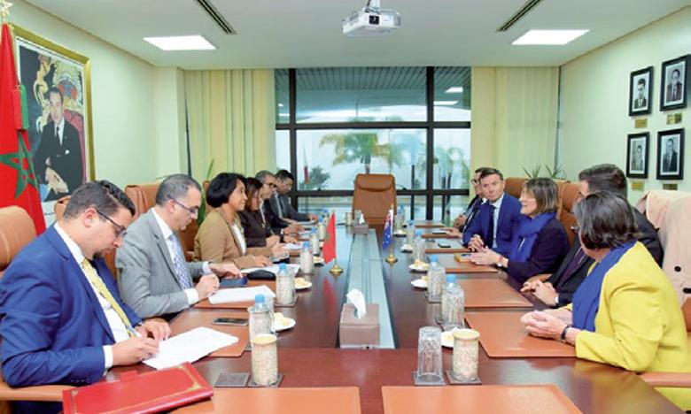 Mounia Boucetta s'entretient avec une délégation du groupe d'amitié parlementaire
