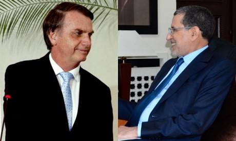Investiture du président brésilien : El Otmani représente S.M. le Roi à la cérémonie