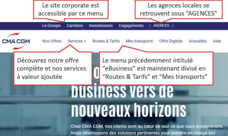 CMA CGM relooke sa plateforme business