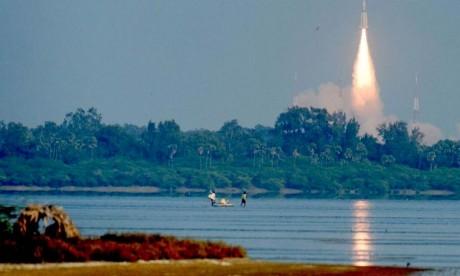 Il s'agira de la première mission habitée du programme spatial indien. Elle utilisera le lanceur indien GSLV-MkIII. Deux vols non habités seront organisés à titre de tests. L'Inde deviendrait ainsi le 4e pays à le faire après la Russie, les Etats-Unis et la Chine. Ph : AFP