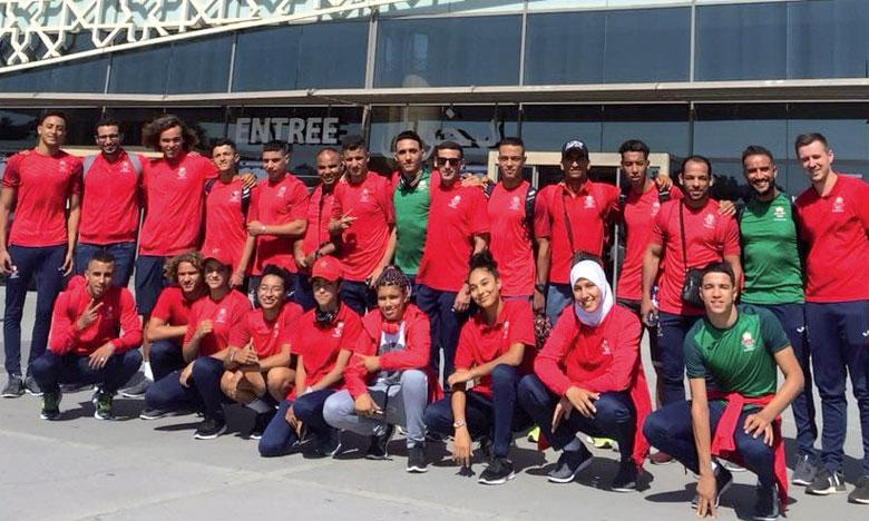 La délégation marocaine lors de son retour des JO de la jeunesse à Buenos Aires, l'été dernier.
