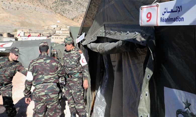 L'hôpital militaire de campagne totalise 165 opérations chirurgicales et 13.393 consultations médicales en un mois