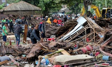 Le Souverain exprime au Président Widodo, Ses vives condoléances et sincères sentiments de solidarité et de compassion. Ph : AFP