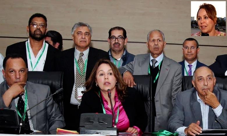 Bouchra Hajij, vice-présidente de la FIVB, a reçu le diplôme «Femme et Sport» du mérite, décerné par le CIO. Ph : DR