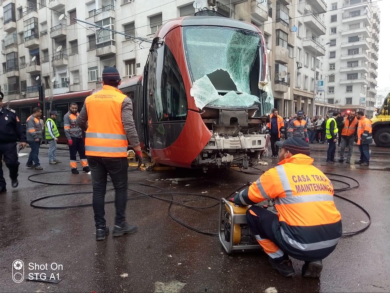Grave accident du tramway à Casablanca