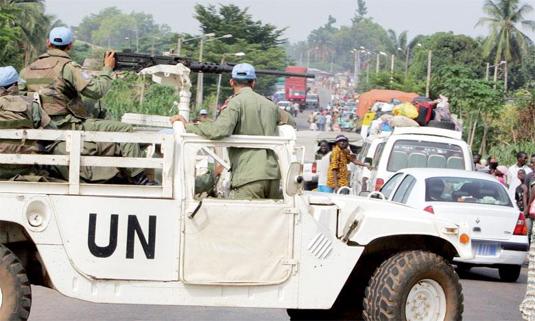 Quatorzième pays contributeur en troupes, le Maroc contribue avec 1.600 Casques bleus actuellement en service sous le drapeau de l'ONU dans  les missions de maintien de la paix en République centrafricaine et en République démocratique du Congo.                            Ph. Archives