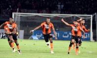 Les trois réalisations de la Renaissance Sportive Berkane (RSB)  champion de la Coupe du Trône ont été l'œuvre d'Alain Traoré (45e), Hamdi Laachir (74e) et Mohamed Aziz (80e). Ph : Seddik