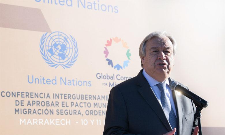 Antonio Guterres, Secrétaire général des Nations unies.