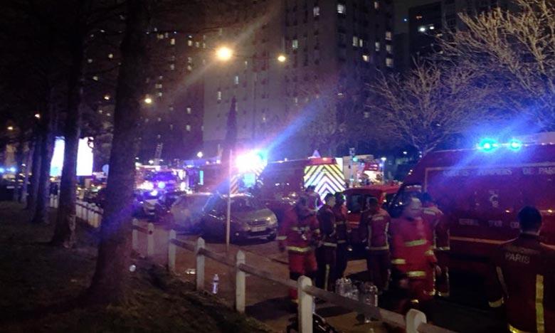 Le feu est parti vers 21h20 d'un appartement de 100 m² du premier étage d'un immeuble d'habitation de 18 étages de Bobigny. Ph. DR
