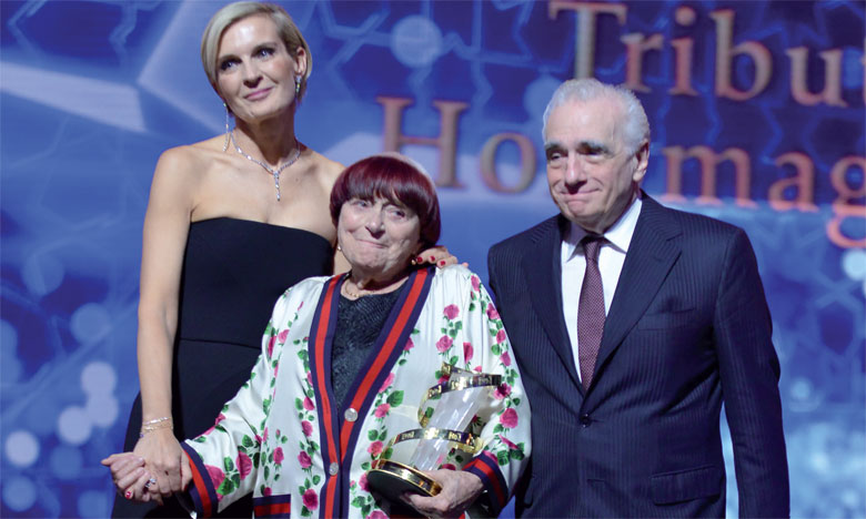 Agnès Varda était émue par l'hommage du FIFM.                                                                                                                       Ph. Saouri
