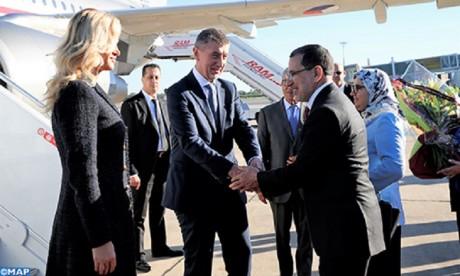 Arrivée au Maroc du Premier ministre tchèque pour une visite officielle