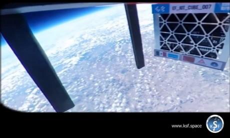 Photo prise par KSF Space lors du lancement de cette expérience. Ph : DR