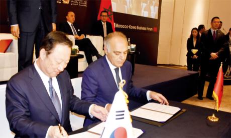 Le mémorandum d'entente CGEM-KCCI a été signé lors du Forum économique Maroc-Corée, organisé en fin de semaine dernière à Casablanca. Ph. Seddik