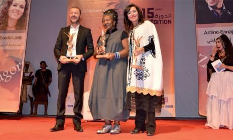 Des hommage ont été rendus à la romancière et professeure universitaire Frieda Ekotto ainsi qu'aux acteurs Saâdia Ladib et Amine Ennaji.