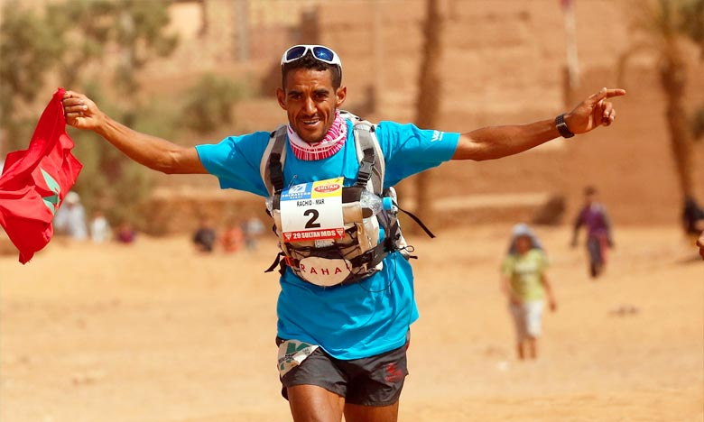 Rachid El Morabity réalisé un parcours de 270 Km avant de finir première de la course et remporter, ainsi, la médaille d'or de la compétition pour hommes. Ph : DR