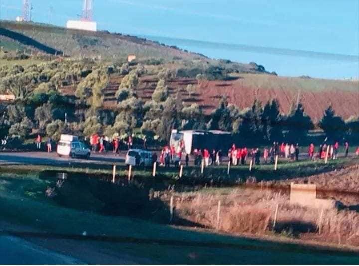 Des supporters du WAC victimes d'un grave accident de la route