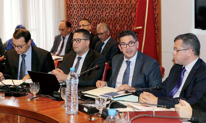 Saïd Amzazi exposant les grandes lignes de ce projet devant les représentants de la nation.Ph. MAP