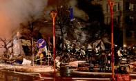 Des pompiers viennent en aide à des blessés après l'explosion d'un restaurant à Sapporo, sur l'île septentrionale japonaise de Hokkaido . Ph : AFP