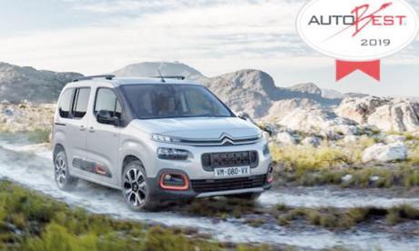 Nouveau Citroën Berlingo  reçoit le prix Autobest 2019