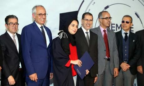 Cérémonie de remise de diplômes aux lauréats  de la 33e promotion de l'École nationale d'architecture