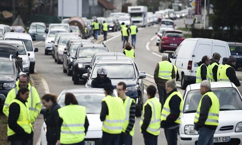 ''Gilets jaunes'': 1.900 manifestants recensés mardi matin