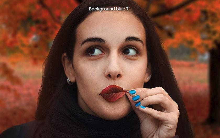 La photo de la publicité Samsung telle qu'elle a été publiée sur le site du groupe. Ph. DR
