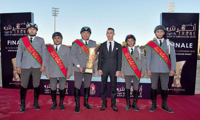 S.A.R. Le Prince Héritier Moulay El Hassan préside à Rabat la finale de la sixième édition de la Coupe du Trône des clubs de saut d'obstacles