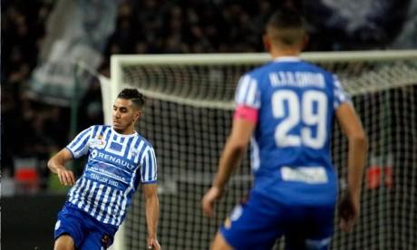 L'unique réalisation inscrite par Abdelkabir Elouadi (47e) n'a pas été suffisante aux Tangérois pour remonter la défaite du match-aller (0-2). Ph : Seddik