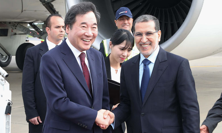 Arrivée au Maroc du Premier ministre sud-coréen pour une visite de travail et d'amitié