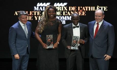 Eliud Kipchoge et Caterine Ibarguen élus athlètes de l'année