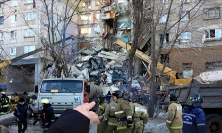 La ville russe de Magnitogorsk, dans l'Oural, a été le théâtre d'une grosse explosion dans un immeuble résidentiel. Il y a déjà 3 morts. Ph : DR