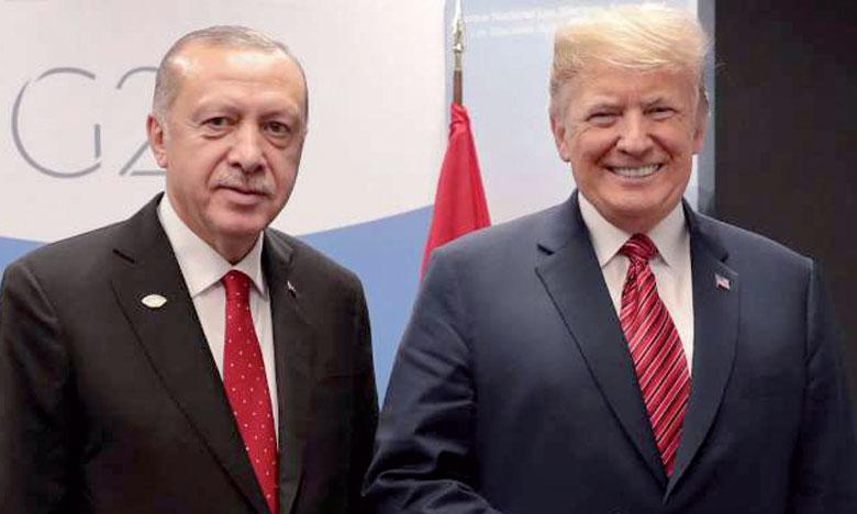 Erdogan et Trump ont convenu d'éviter un «vide du pouvoir»